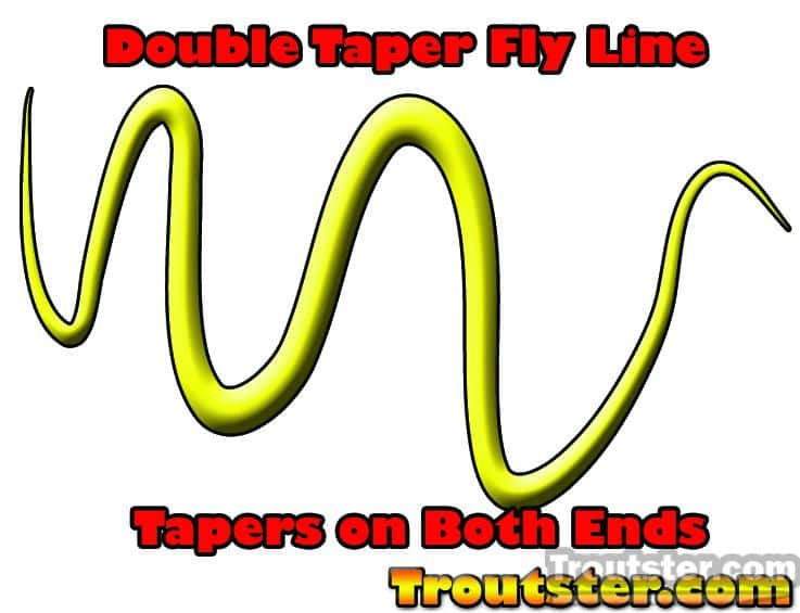 double taper fly line graphic