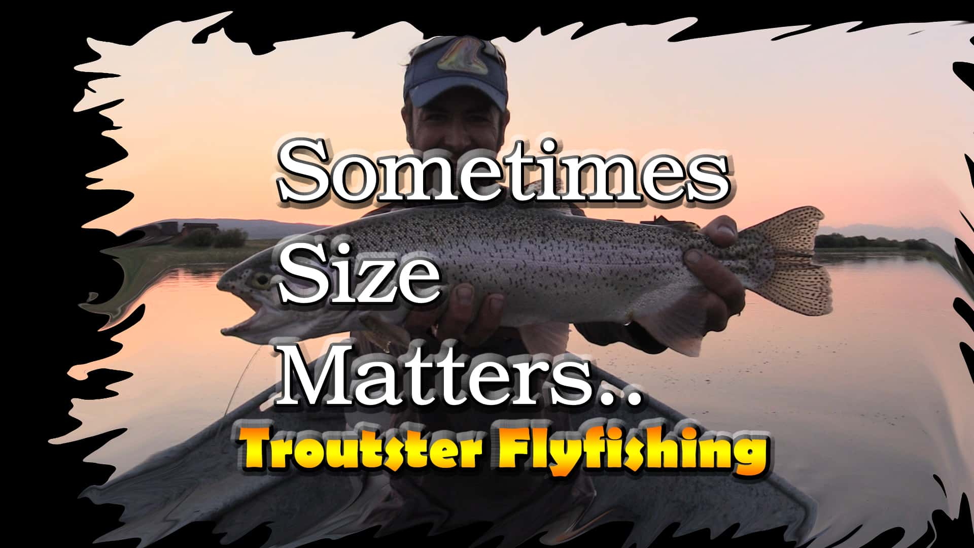 Huge 24 inch rainbow trout on a dry fly