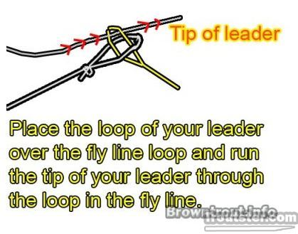Loop to Loop Knot or connection, how to put line a reel, how to put fishing line on a reel, how to tie line to reel, how to put fly fishing line on a reel