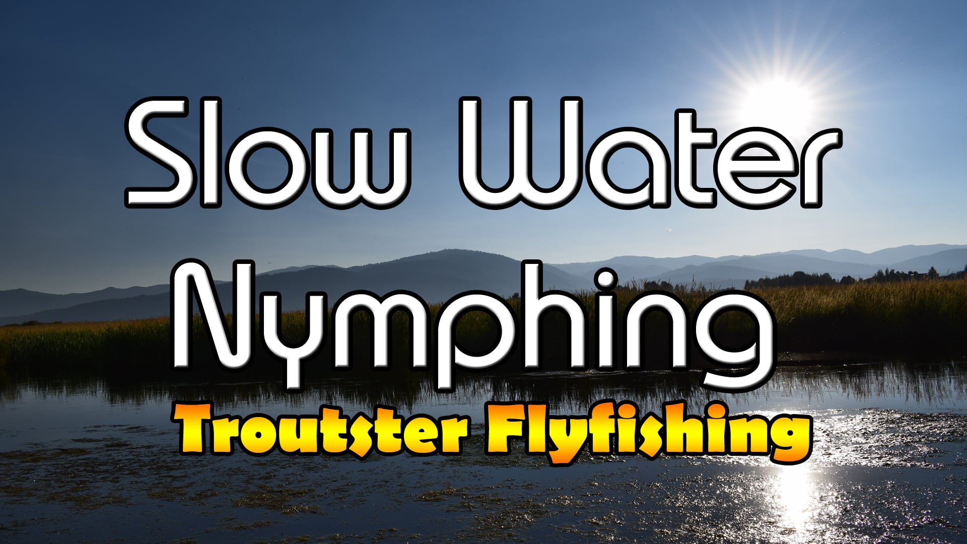 slow water nymph fishing techniques